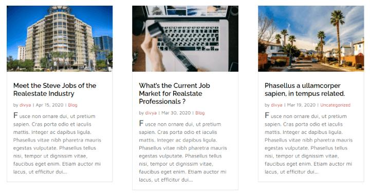Divi drop cap final result for native blog module