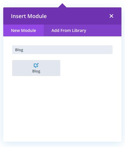 Native Divi blog module
