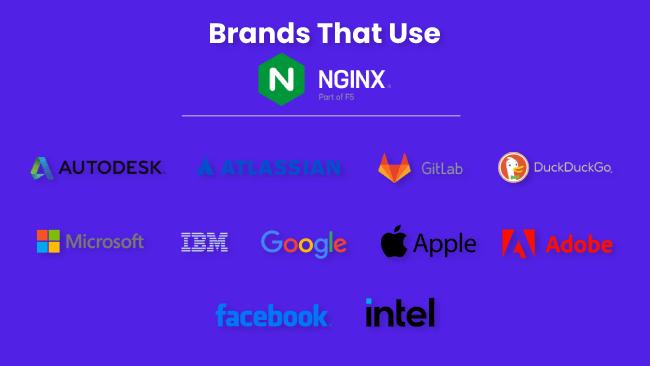 Brands that use Nginx web server
