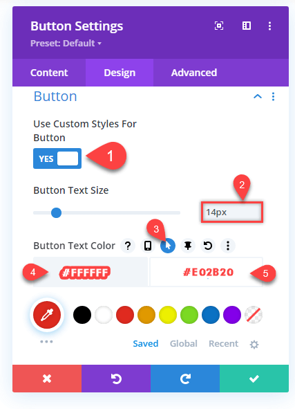 Button Customizations for Divi Hamburger menu on desktop A