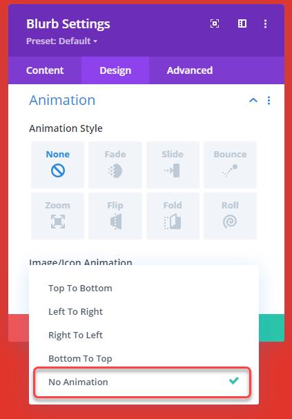 Close icon animation settings