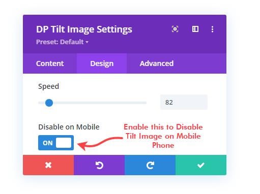 Disabling Divi tilt image for mobile devices
