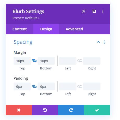 Hamburger icon spacing values