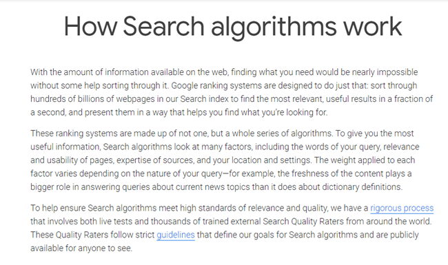 How Search algorithms work