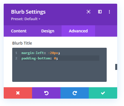 Inserting Custom CSS for Email Blurb Title
