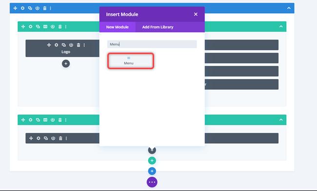 Inserting menu module for slide in off canvas