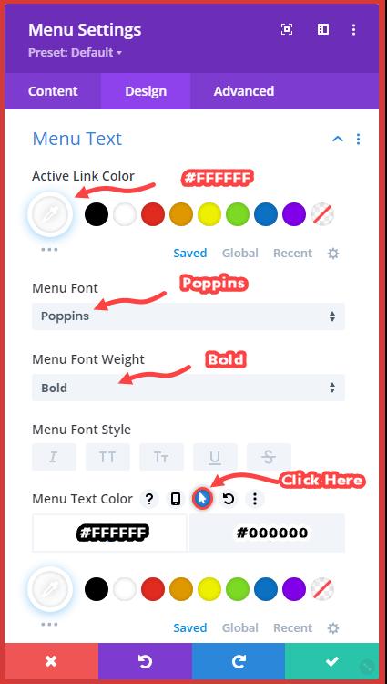 Off Canvas Menu text customization A