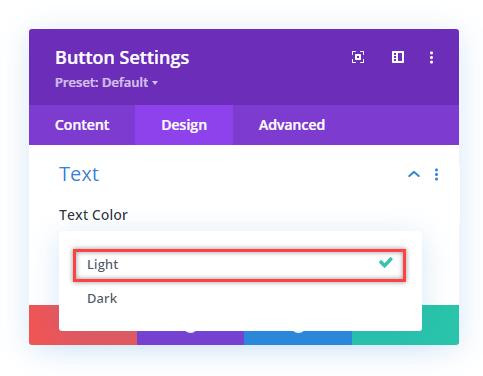 Selecting Light Color for the CTA on Divi hamburger menu on desktop
