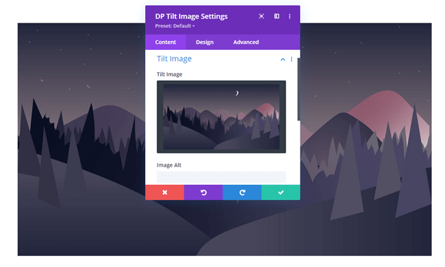 Tilt image on the page