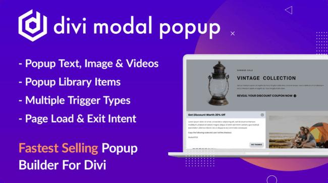 Divi Modal Popup plugin for Divi