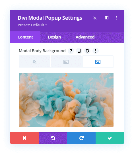 Modal Background Body Settings