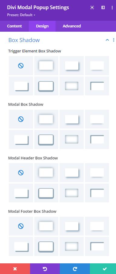 Modal Popup Box Shadow Options