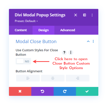 Modal Popup Close Button Custom Style options