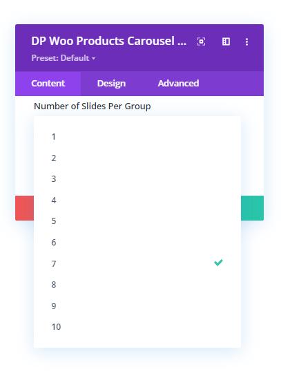 Number of Slides per group