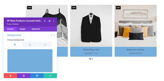 Woo Products Carousel Background options