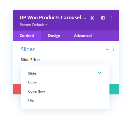 WooCommerce Products Carousel Slide Effects