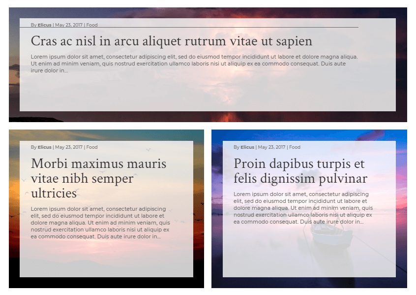 Custom full-width background layout 7