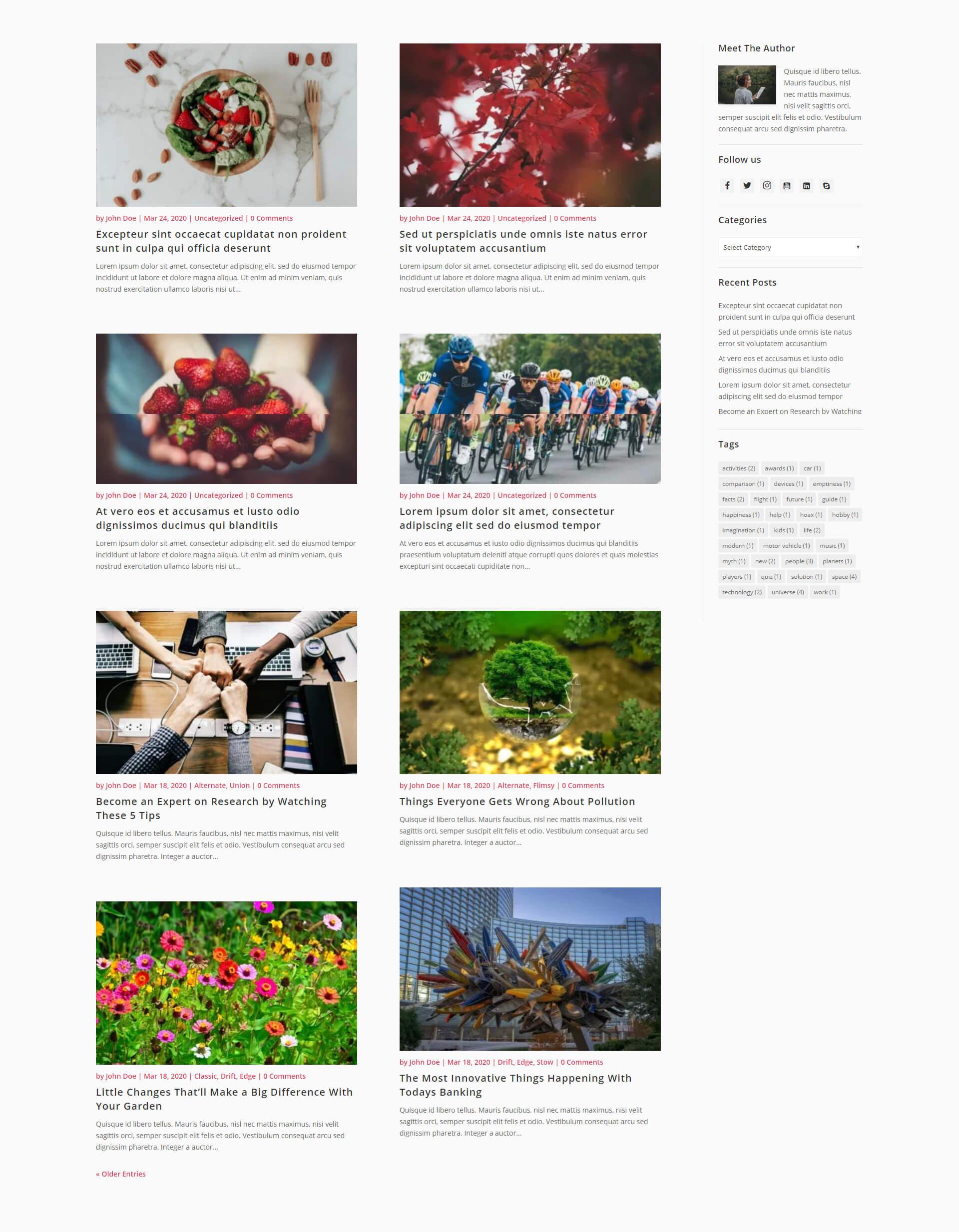 Free Divi blog layout 4