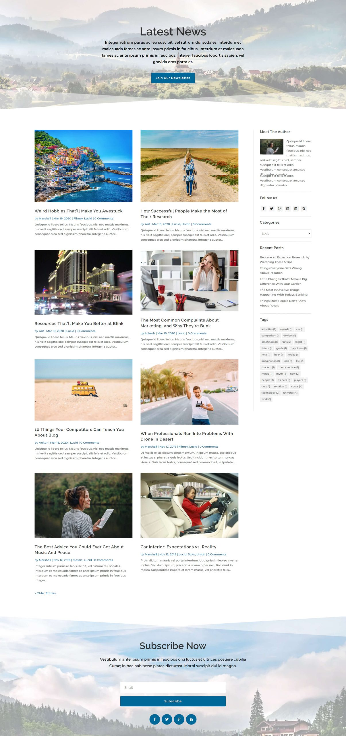 Lucid blog layout