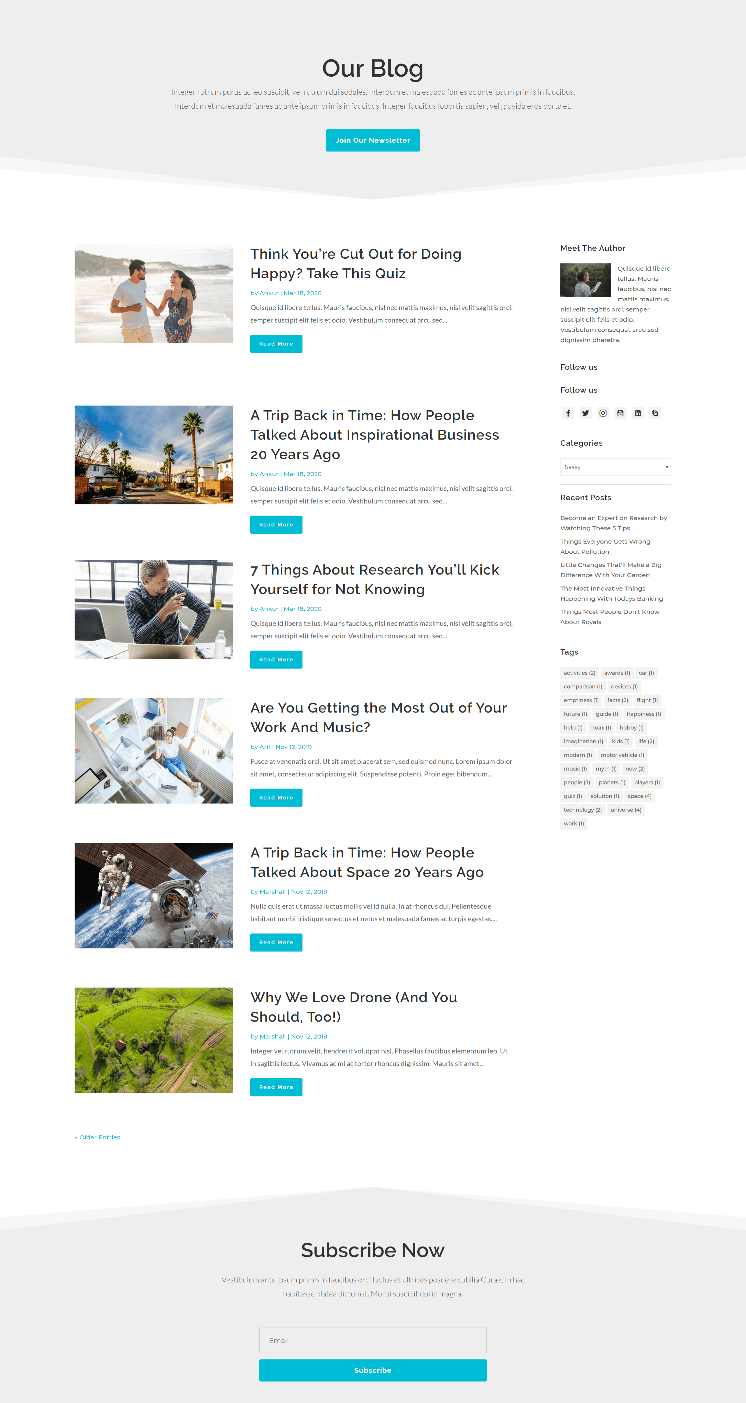 Sassy blog layout