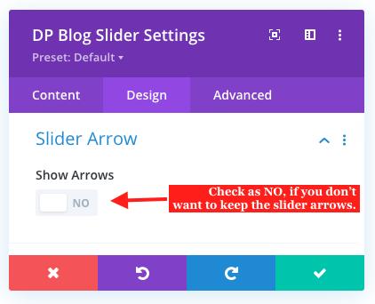 Post carousel slider arrows
